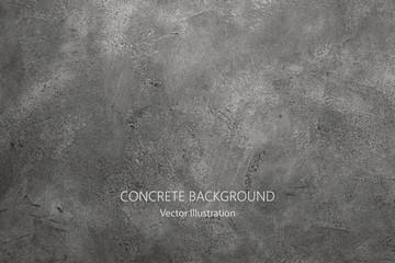 Fototapeta Vector gray concrete texture. Stone wall background. obraz
