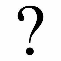 Black question symbol