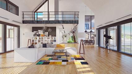 modern house interior design Wall mural