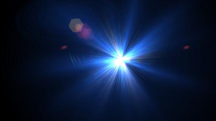Bright light blue lense flare