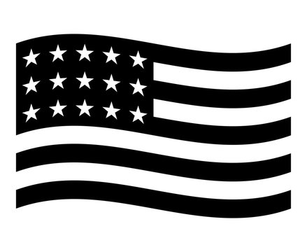 Icon USA flag,american National flag,Vector illustration