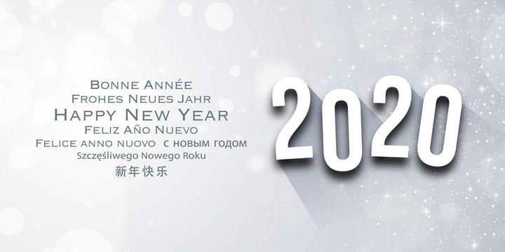 Carte de voeux - Happy New Year 2020