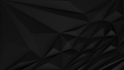 Fototapete - Black abstract backround. Low poly