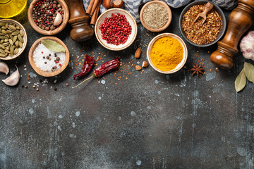 Cooking background with spices