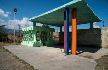 Busstation in Armenia