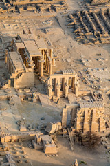 Aerial view of Ramesseum, Luxor, Egypt