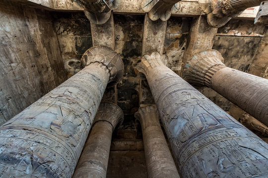 Horus Temple in Edfu, one of the best preserved temples in Egypt