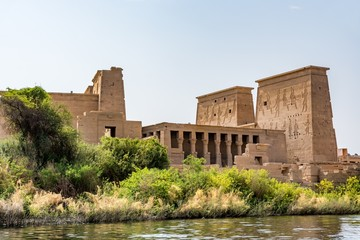 Temple of Isis on Agilkia island (moved from Philae island), Aswan, Egypt
