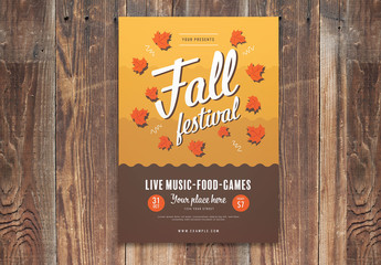 Graphic Fall Festival Flyer Layout