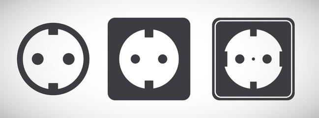 European electric energy socket icon