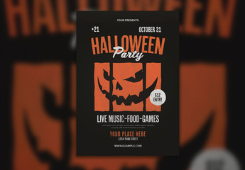 Graphic Halloween Party Flyer Layout