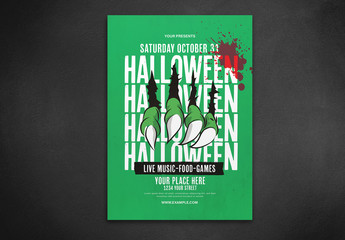 Graphic Halloween Flyer Layout