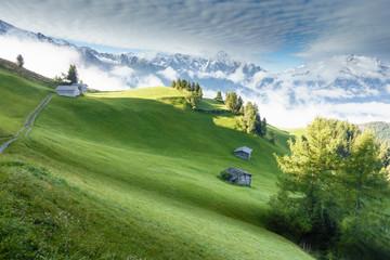 Fototapete - Herbst und Winter in den Alpen