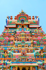 Wall Mural - Srirangam, is one of the most famous temples of Lord Vishnu