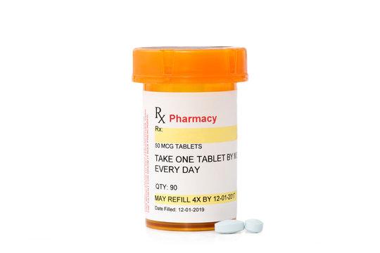 Blank Prescription Drug Container
