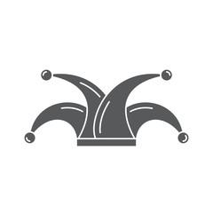 Joker hat vector icon symbol isolated on white background