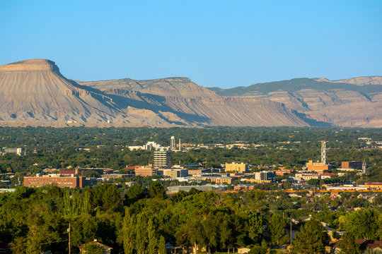Downtown Grand Junction, Colorado on a Sunny Day