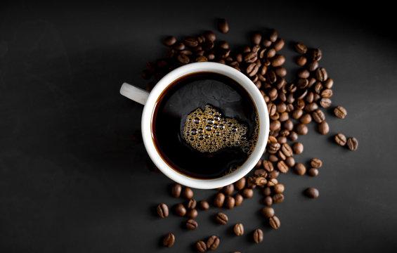 Coffee, black coffee, drip coffee, making coffee in low-light black