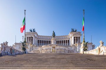 Wall Mural - National Monument to Victor Emmanuel II, Altar of the Fatherland or Altare della Patria in  Piazza Venezia, Rome, Italy.