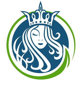 Queen and nature logo vector eps format