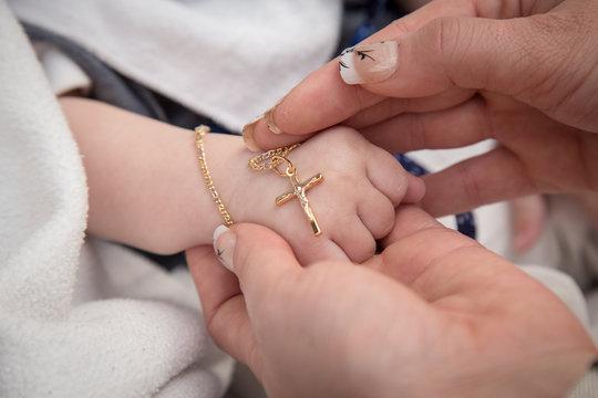 baptism holy cross necklace