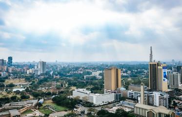 Skyline of Nairobi City in Kenya Wall mural