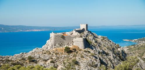 Starigrad fortress in Omis Croatia Wall mural