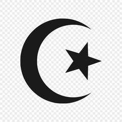 symbol of Islam isolated