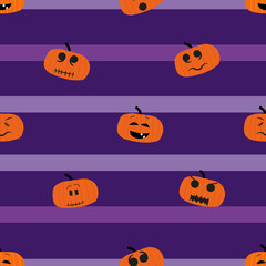 Printed roller blinds Watercolor Skull Seamless pattern with pumpkins. Texture, pattern or gift wrapping for Halloween
