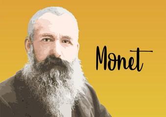 Fototapeta Claude Monet portrait