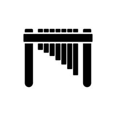 marimba solid vector icon