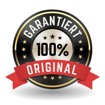 Garantiert 100% Original Siegel in gold/schwarz