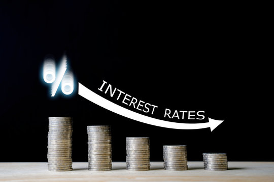 INTEREST RATES / FINANCIAL CONCEPT.