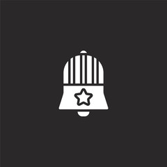 liberty bell icon. Filled liberty bell icon for website design and mobile, app development. liberty bell icon from filled independence day collection isolated on black background.