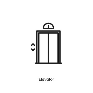 elevator icon. elevator icon vector. Linear style sign for mobile concept and web design. elevator symbol illustration. vector graphics - Vector