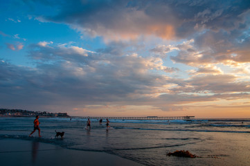 Sultry Sunset at Dog Beach in Ocean Beach
