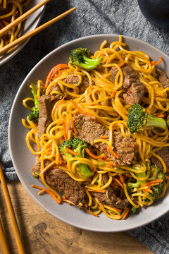 Homemade Beef Lo Mein Noodles