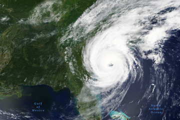 Hurricane Dorian lashes the Carolinas in August 2019 - Elements of this image furnished by NASA
