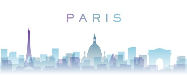 Paris Transparent Layers Gradient Landmarks Skyline