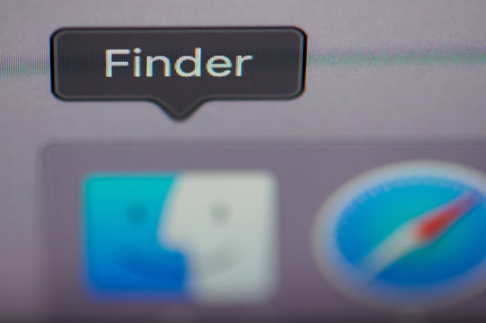 Select finder application on computer