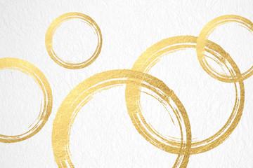 金色の円で構成さた背景素材(アブストラクト)