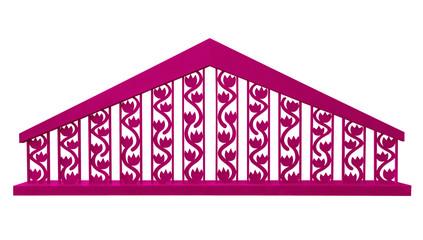 Decorative fence - pink