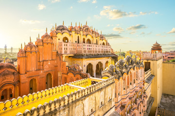 Hawa Mahal (Palace of the Winds) in Jaipur, india Fotomurales