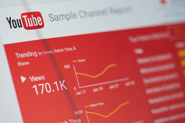 Youtube sample channel report