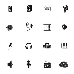 set of objects for music