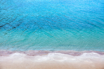 Fototapete - The texture of the Dead Sea. Salty sea shore background. Nature background