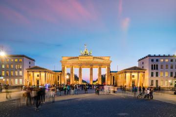 The Brandenburg Gate in Berlin at night Wall mural