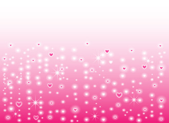 pink heart shape vector background, love and valentine day concept, space for text or message design
