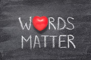 words matter heart