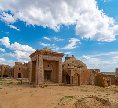 Ancient bathhouse in the capital of the Mongol Empire (Golden Horde), the city of Sarai Batu